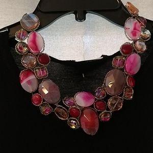 Gem beaded necklace